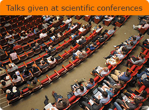 Talks given at scientific conferences
